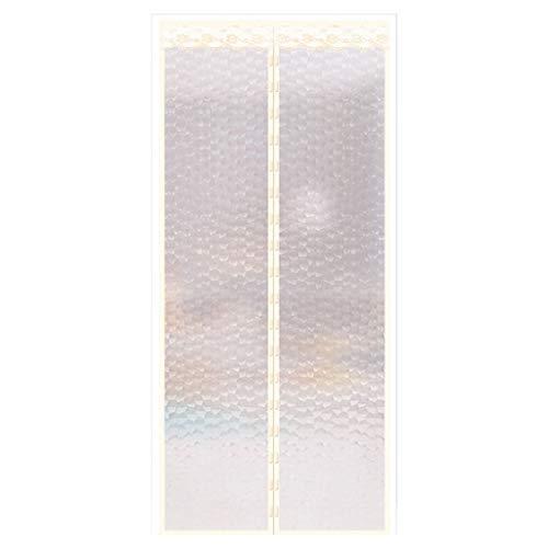 GVQ-haodene Kunststoff selbstadsorbierende Magnetvorhang Shop Fassade Winter und Sommer getrennt Kälteisolation Trennvorhang Klett-Installation 180 × 240 cm
