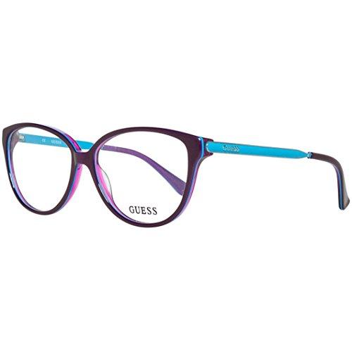 Guess - GU2488, Schmetterling, Acetat/Metall, Damenbrillen, PURPLE BLUE(081 D), 55/14/135
