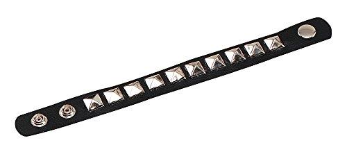 NEW GOTH PUNK BLACK STUDDED WRISTBAND FANCY DRESS (accesorio de disfraz)