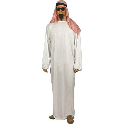 NET TOYS Costume cheikh - Costume d'arabe Blanc Taille M 48/50 Tenue Orientale - Costume de cheikh - Costume Arabe - Calife - Prince - émir - Sultan - Pacha