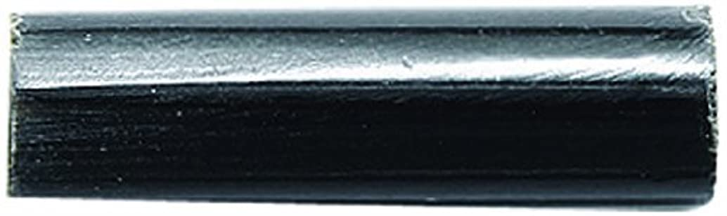 Shipwreck Beads Horn Tube Beads, 1-Inch, Black, 100-piece