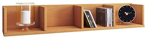 VCM Wandregal Regal Hängeregal Wandboard Hängeboard Bücherregal Sammlerregal Holz Buche 15 x 97 x 17 cm