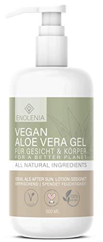 NEU: Enolenia® ALOE VERA GEL - 3 in 1 Bodylotion, Hautpflege und After Sun – pflanzlich, intensiv & vegan – für alle Hauttypen geeignet – extra viel Feuchtigkeit,...
