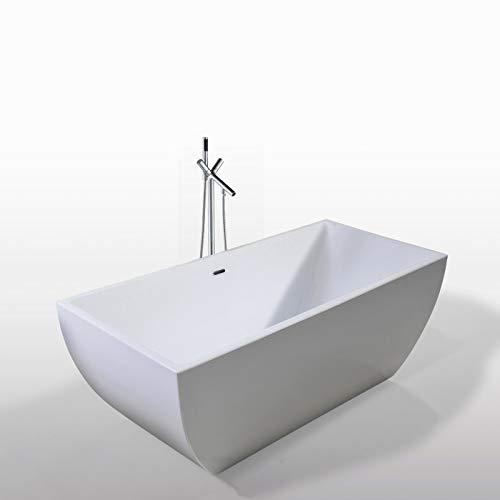 Freistehende Badewanne JENNIFER+WASSERHAHN 170x75 cm Modernes Innovatives Design
