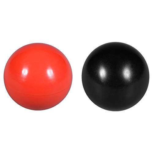 uxcell Thermoset Ball Knob M10 Female Thread Machine Handle 35mm Diameter Smooth Rim Red 3Pcs / Black 3Pcs