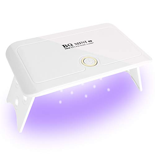 UV LED Nail Dryer, 36W Mini Gel Nail Curing lamp Portable Curing Light for Gel Nail Polish - BQ Mini White