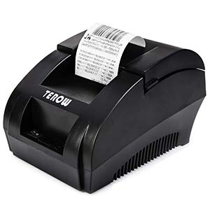 TEROW T5890K USB Thermal Receipt Printer 58MM POS Printer Portable Label Printer with High Speed Printing Mini Small Pos Receipt Printer for Restaurant/Sales/Kitchen Support Windows 7/8/9X/10/XP/MAC