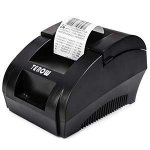 TEROW T5890K USB Thermal Receipt Printer 58MM POS Printer Portable Label Printer with High Speed Printing Mini Small Pos Receipt Printer for Restaurant/Sales/Kitchen Support Windows 7/8/9X/10/XP