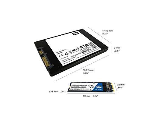 WD Blue 3D NAND Internal SSD M.2 SATA - 1 TB, Blue - High Performance