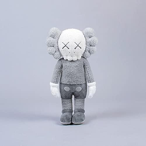 Kaws Sesame Street Grey Doll Peluche de juguete 50cm, Pareja de muñeco de peluche de juguete-Regalos de vacaciones para niños-Decoración del hogar