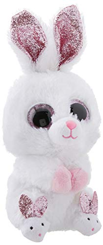 Ty Beanie Boos - Slippers The White Bunny (Glitter Eyes)(Regular Size - 6 inch)