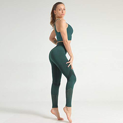 Panty voor dames, leggings met lange mouwen, gebreide yoga-kleding, naadloos bovenstuk, dunne katoenmix, hoge taille, vrouwenkruis, rood, maat L