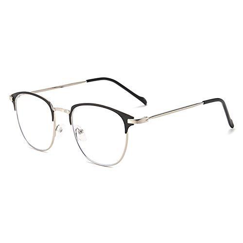 Gafas de miopía redondas de metal anti-fatiga anti-ojo para hombre Gafas de miopía de medio marco para mujer