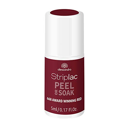 alessandro alessandro Striplac Peel or Soak Award Winning Red - LED-Nagellack in dunkelrot- Für perfekte Nägel in 15 Minuten, 5ml 1er Pack(1 x) 5 ml