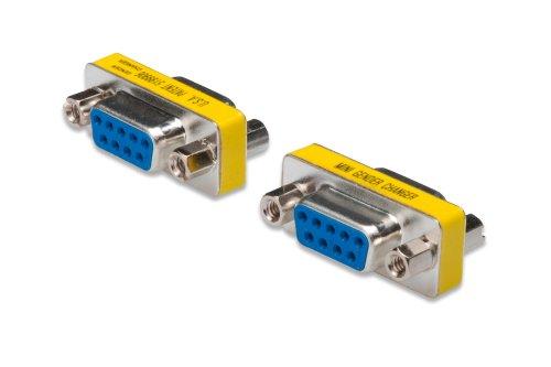 DIGITUS D-Sub 9 Gender-Changer - Adapter - 9-Pin Kupplung - Buchse zu Buchse - RS-232 - RS-485 - TTL - Metallgehäuse