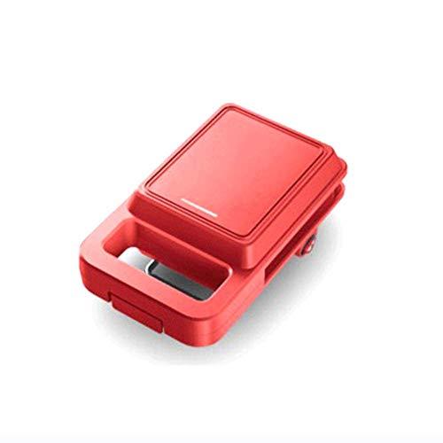 Conveniencia Pequeño fabricante de waffle, calefacción a doble cara durante 3 minutos, bandeja para hornear eléctrica de alimentos ligeros, bandeja para hornear antiadherente, fácil de limpiar, adecua