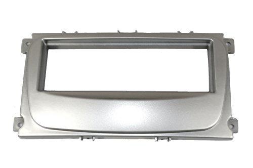 Aerzetix C4507 adapterframe voor autoradio, 1 DIN, zilverkleurig