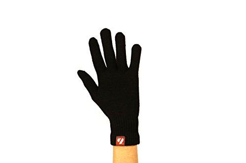 BARNETT NBG-15 Gants d'hiver en Laine - Ski de Fond- Running -5° /-10°, Noir (L)