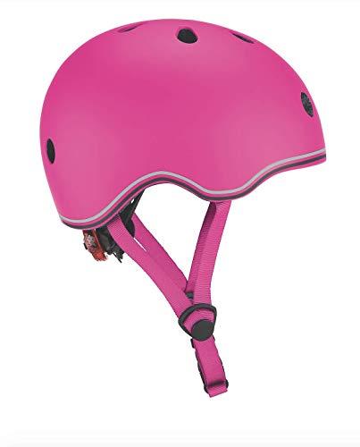 Globber Casque Junior GO UP-Neon Pink Enfant Jeunesse Unisexe, Rose, Taille XXS-XS