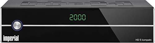 IMPERIAL HD 5 kompakt - HDTV Satellitenreceiver (DVB-S/S2, Display, HDMI, Audio-Video-Cinch, USB 2.0, Mediaplayer) schwarz