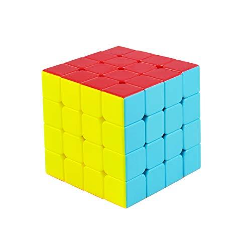 Cooja Cubo de Velocidad 4x4 Speed Cube, Cubo Magico 4x4x4 Smooth Magic Cube Puzzle Durable Regalo de Juguetes para Niños Niñas