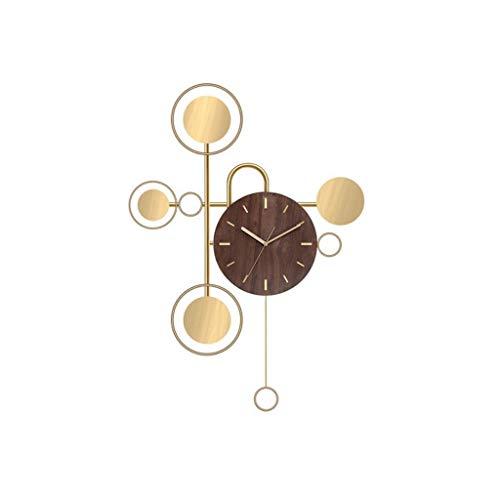 zhangshop Reloj de Pared Decorativo Reloje de Pared modernon Reloj silenciosa casa salón Reloj de Pared de Dormitorio Reloj Decorativo Relojes fáciles de Leer (Color : B)