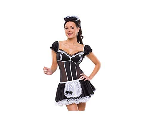 GGT boetiek sexy brutale meid cosplay chique jurk halloween kostuum, One Size 6-8, Zwart en Wit