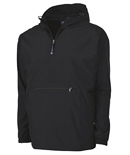 Charles River Apparel womens Pack-n-go & Water-resistant Pullover (Reg/Ext Sizes) Windbreaker Jacket, Black, Medium US
