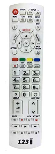 Ersatz Fernbedienung für Panasonic TX-40DXW734 | TX-40DXW735 | TX-42AS500E | TX-42AS750E | TX-42ASF657