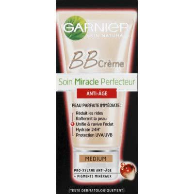 Garnier BB Cream Anti Ageing Light Tinted Moisturiser SPF 15, Brightening & Firming Anti Wrinkle Cream with Mineral Pigments 50 ml
