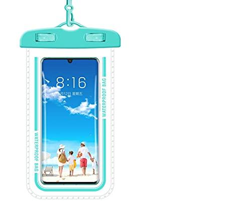 5665 Bolsa Impermeable para Teléfono Móvil Funda Impermeable para Teléfono Inteligente Bolsa Seca Bajo El Agua Bolsa Impermeable Duradera Bolsa para,Blue