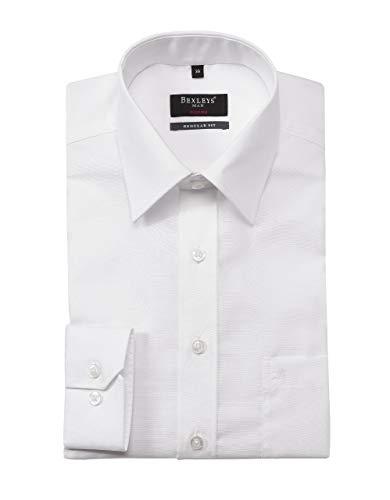 Bexleys man by Adler Mode Herren Klassisches Dresshemd Uni, Regular FIT weiß 41