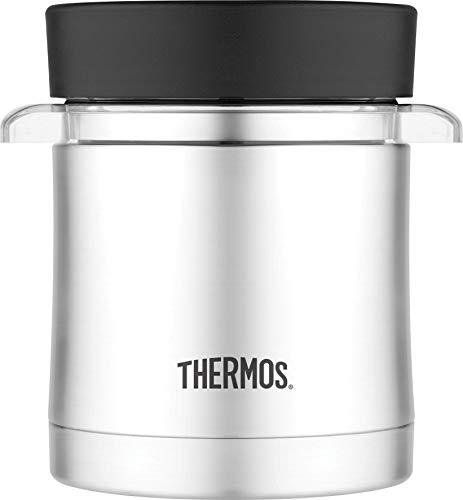 THERMOS 4006.205.035 Speisegefäß Premium Micro, Edelstahl mattiert 0,35 l, inkl. Mikrowelleneinsatz, 7 Stunden heiß, 9 Stunden kalt