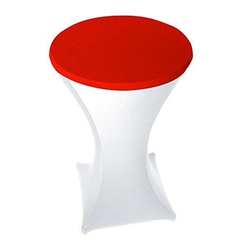 Stoff-Kollektion Stretch Stehtischdeckel/Haube für Stehtische Ø 70cm (Rot)