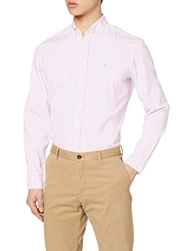 Photo of Hackett Largeondon Men's Continuity Wsh/oxford Casual Shirt, Pink (Pink 325), 16 (size: X-Large)