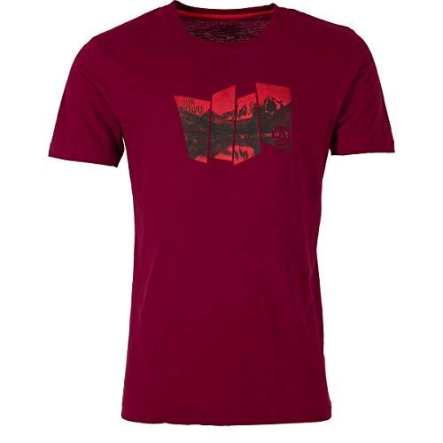 Ternua Herren Tausug T-Shirt, a-Burgundy