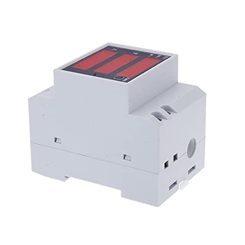 Tree-es-Life D52-2048 LED medidor Digital multifunción voltímetro amperímetro amperímetro voltímetro Estable y Duradero de Alta precisión AC 80-300V Blanco