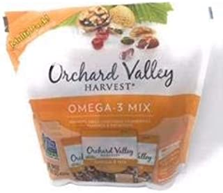 Orchard Valley Harvest Snack Packs - Omega - 3 Mix Multi Pack Trail Mix, Mixed Nuts, Non-GMO Project Verified, No Artificial Ingredients, 15 ounces (15 Individual Packs)