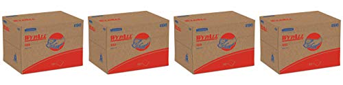 WypAll 41041 X80 Cloths, BRAG Box, HYDROKNIT, Blue, 12 1/2 x 16 4/5 (Case of 160 Wipers), PACK 4