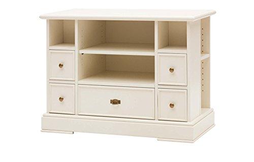 Legno&Design Meuble TV TV 4 tiroirs 4 casiers à Jour en Bois Art pauvre