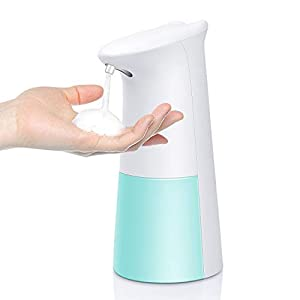 immagine di TESEU Dispenser Sapone Automatico 250ML Distributore di Sapone Schiumogeno Erogatore di Sapone Touchless con Sensore di Infrarossi per Cucina Bagno e WC