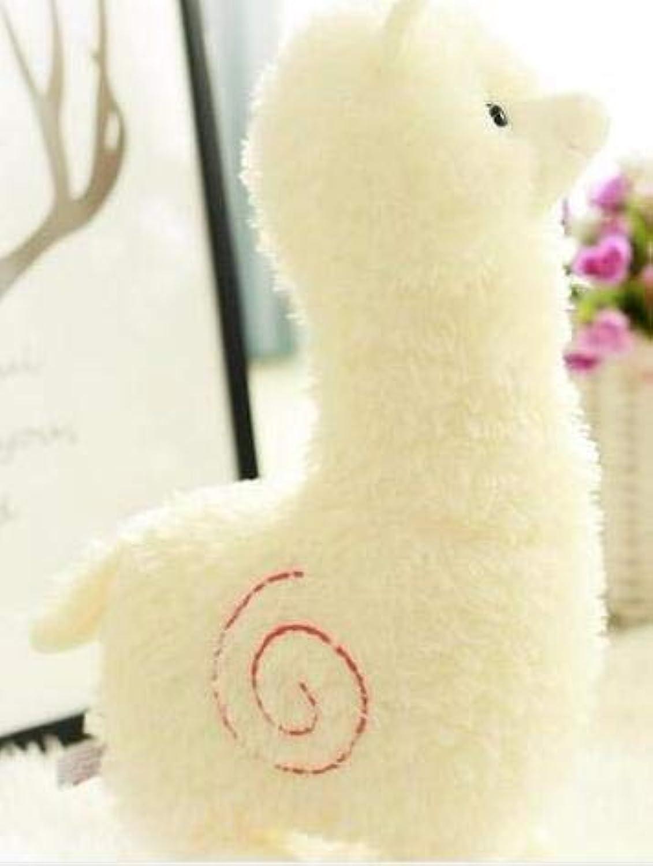 Alpaca   Erba Cavtuttio di Fango   Lama Pacos Peluche autoino Bambini Regali di Compleanno Regali Presente 1pcs Bianco 65cm