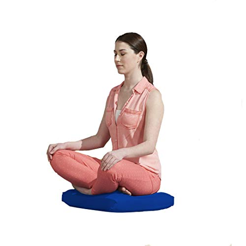 Yogibo Zoola Pad Cushion, Zen Meditation Yoga, Outdoor Waterproof Floor Pillow, Royal, 1 Count (Pack of 1)