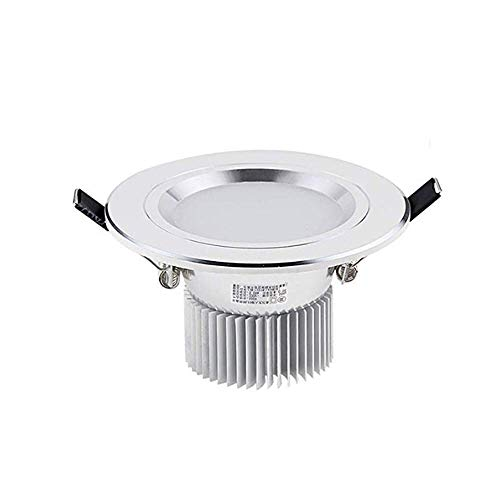 Lsmaa 3W Inbouwplafondlampen IP65 Badkamer Spotlights voor Plafond 70-90mm Cut-Out Warm Wit Downlights AC110V-240V 3000K RA80 300LM Vervang 30W Gloeilamp voor Slaapkamer Keuken Wassen Wandlamp