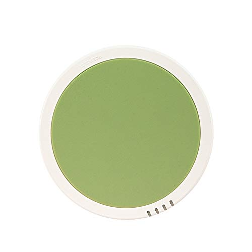 Miroir De Maquillage Portable Maquillage Miroir de Maquillage Lumière Miroir Rond LED éclairage Miroir de Maquillage pour Le Maquillage De Comptoir (Color : Green, Size : 10.1x1.6cm)