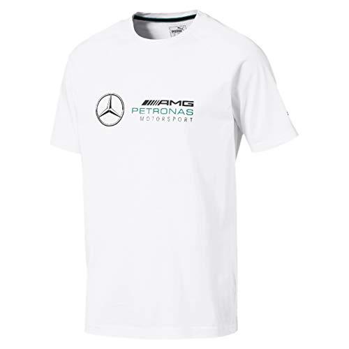 MERCEDES AMG PETRONAS Herren Mercedes Amg Logo Tee, M T-Shirt, Weiß (White White), Medium (Herstellergröße: M)