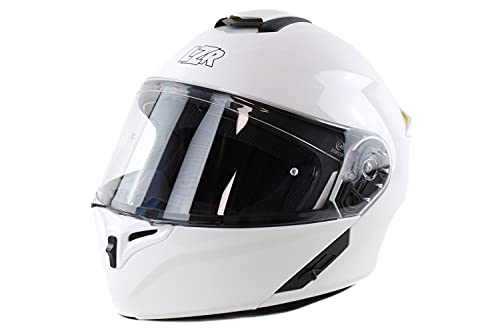 Marushin Motorrad Helm Lazer - FlipUp MH-6 - weiß, Größe: XS bis XXL, Helmgröße:L