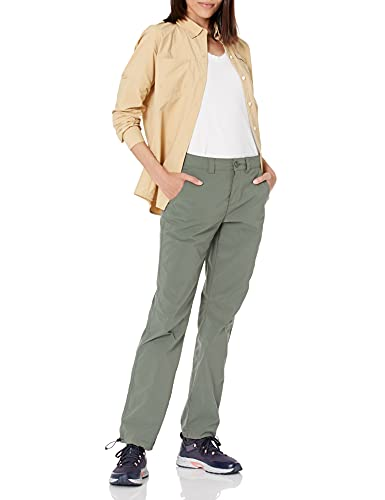 Amazon Essentials Women's Stretch Woven Outdoor Hiking Pants with Utility Pockets, Dusty Olive, 12
