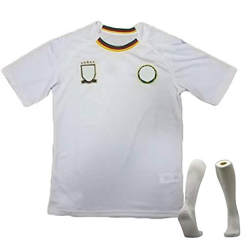 CWWAP Vintage 2018-2018 Camerún Camiseta de fútbol Camiseta, Traje de fútbol Masculino, poliéster Deportes Fútbol Camiseta, Club de fútbol Jersey Gran White-S