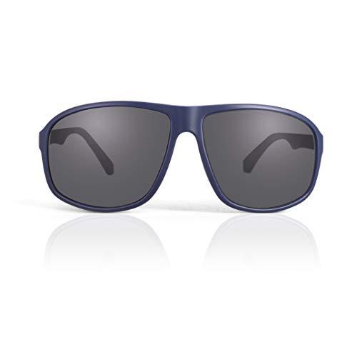 fawova Oversized Sonnenbrille Herren Polarisiert, Pilotenbrille Herren, UV400, Cat.3 62mm (Dunkelblau, Grau)